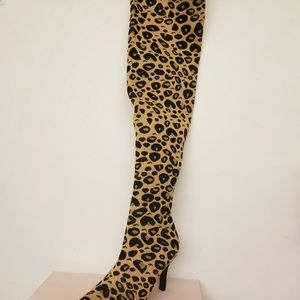 Leapard Thigh High Boot